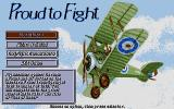 Knights of the Sky Atari ST Main menu