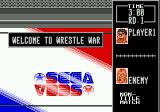Wrestle War Genesis The start of a match