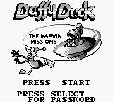 Daffy Duck Game Boy Title screen