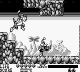 Daffy Duck Game Boy Miniboss fight against Marvin dog, K-9
