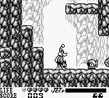 Daffy Duck Game Boy Cannons do a lot of damage, but can be destroyed by shooting or jumping on them.