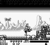 Daffy Duck Game Boy The ground falls out from underneath Daffy as he runs here.