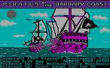 Pirates of the Barbary Coast DOS Main game screen