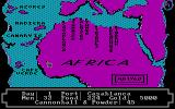 Pirates of the Barbary Coast DOS Map of Africa