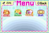 Hamtaro Rainbow Rescue Game Boy Advance Start Menu