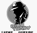 Dick Tracy Game Boy Main menu
