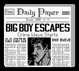 Dick Tracy Game Boy Catching Big Boy is the object of the game.
