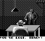 Dick Tracy Game Boy Game over