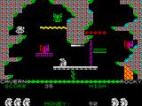 Auf Wiedersehen Monty ZX Spectrum The second screen, takes you straight into the path of a crusher