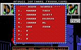 Duke Nukum: Episode 1 - Shrapnel City DOS High score table