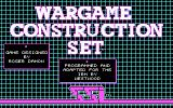 Wargame Construction Set DOS Main Screen