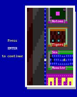 Super ZZT DOS Also acting as a legend of sorts, to decode their NetHackian symbol-analogues