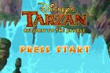 Disney's Tarzan: Return to the Jungle Game Boy Advance Title Screen