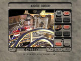 Judge Dredd Pinball DOS Main menu.