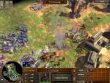 Age of Empires III Windows Attacking the enemy base (multiplayer).