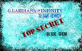 Guardians of Infinity: To Save Kennedy DOS Title screen
