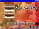 NBA Full Court Press Windows The main menu