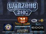 Warzone 2100 Linux Exit title screen.