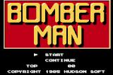 Hudson Best Collection Vol. 1: Bomberman Collection Game Boy Advance Bomberman: Start Screen