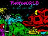 TwinWorld: Land of Vision ZX Spectrum Loading screen