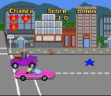 Barbie Super Model SNES Level one, Barbie must pick up the icons that get her to photo shoots as well as various bonuses while avoiding other cars.