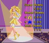 Barbie Super Model SNES End of level score summary
