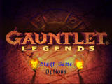 Gauntlet: Legends Nintendo 64 Title screen / Main menu.