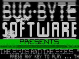 The Birds and the Bees ZX Spectrum Title screen