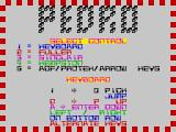 Pedro ZX Spectrum The main menu has lots of effects