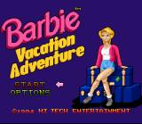 Barbie Vacation Adventure SNES Title screen