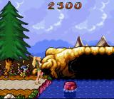 Barbie Vacation Adventure SNES Barbie must leap from rock-to-rock to make it to the other side of the park.