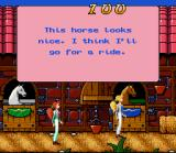 Barbie Vacation Adventure SNES Barbie picks out a horse to ride at teh ranch in Texas