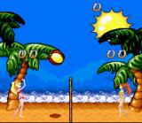 Barbie Vacation Adventure SNES barbie and Midge play volleyball on the Florida beach