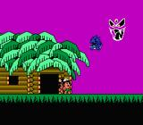 Takahashi Meijin no Bōkenjima IV NES Some monster appears and captures the 5 dinosaurs.