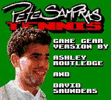 Pete Sampras Tennis Game Gear Title screen