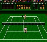Pete Sampras Tennis Game Gear Bosch catches the ball