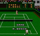 Pete Sampras Tennis Game Gear Game Bosch!
