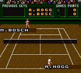 Pete Sampras Tennis Game Gear Playing on a hard court