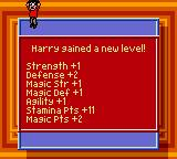 Harry Potter and the Chamber of Secrets Game Boy Color Harry gained a new level!