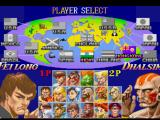 Street Fighter Collection PlayStation Character selection (Super Street Fighter II: The New Challengers)