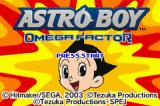 Astro Boy: Omega Factor Game Boy Advance Title Screen