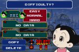 Astro Boy: Omega Factor Game Boy Advance Starting a new game: Enter your name and select level of difficulty
