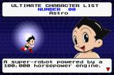Astro Boy: Omega Factor Game Boy Advance Checking out Astro's bio in the Character List