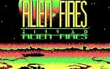 Alien Fires: 2199 AD DOS Title screen