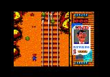 Gun.Smoke Amstrad CPC Level 3 takes place on a railway track, complete with tumbleweed
