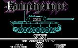 Kampfgruppe DOS Title screen -- a striking piece of CGA draftsmanship