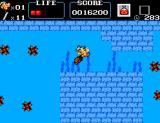 Astérix SEGA Master System Asterix swimming a little.