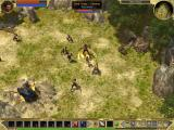 Titan Quest Windows Zooming out is very useful when fighting many foes at a time. Here's your first enemy and his minions.