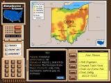 Where in the USA is Carmen Sandiego? (Deluxe Edition) DOS Click the magnifying glass on a state within the map to bring a close-up view of it, giving you an outline of its towns and cities