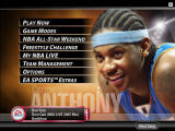 NBA Live 2005 Windows Main menu